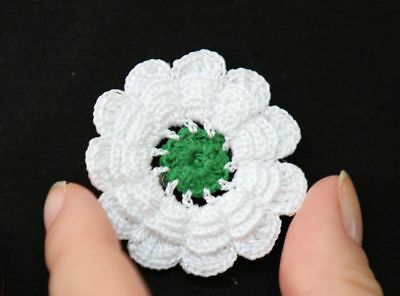 Srebrenica Flower Bosnia genocide original handmade holocaust badge pin lace