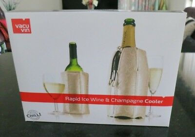 Vacu Vin Active Cooler Wine and Champagne Set-Platinum