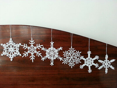 New Lace Crochet Snowflake White Ornaments Christmas Tree and Home Decor