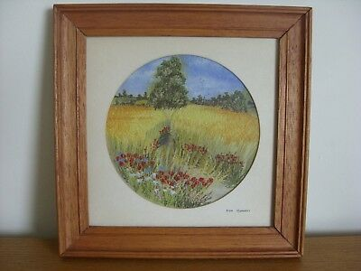 Vintage Handpainted and Embroidered Landscape by Anne Harrison #2