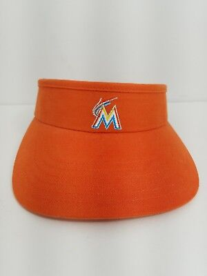 aa7a7efa 47 Brand Miami Marlins Women's ORANGE Sun Visor Cap