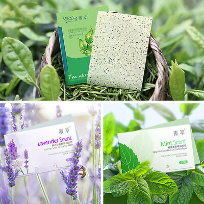 Green Tea Scent Oil Blotting Control Absorbing Facial Papers Wipe 100 Sheets w/