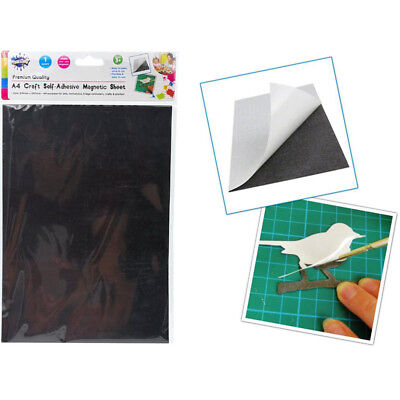 A4 Magnetic Magnet Sheets Self Adhesive Thickness Craft Sheet Material Kids