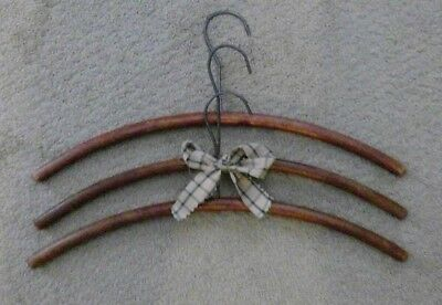1950's Vintage Wooden Clothes Hangers - Set of 3   Will Combine Ship