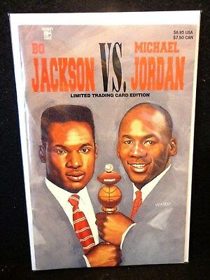 Bo Jackson vs Michael Jordan 1 & 2 Celebrity Comics Limited Trading Card Edition