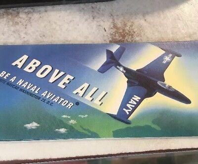 Vintage Navy Aviator Ink BLOTTER Naval Jet Above All Be A Naval Aviator Card