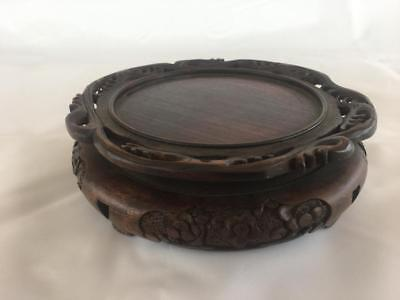 Very Fine Antique Chinese Hardwood Vase / Pot Stand. C1900.