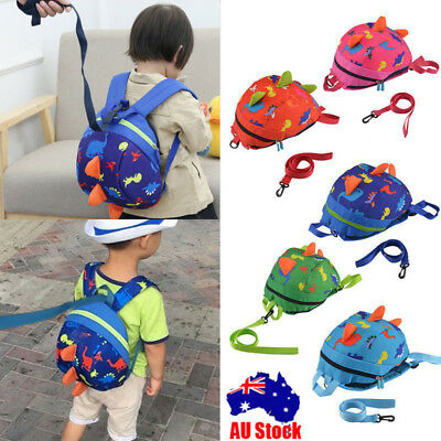Kids Baby Safety Harness Backpack Leash Child Toddler Anti-lost Dinosaur Bag LIT
