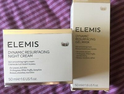 ELEMIS Dynamic Resurfacing Night Cream50ml & gel Mask 50ml