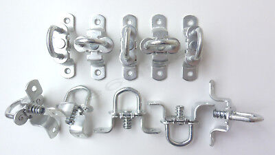 10x Tie Down Point Lashing Rings with spring ROTATING Truck Trailer Van Horsebox