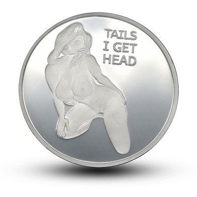 Sexy Stripper Girl coin Adult Novelty Challenge Coins for Men Tails and Head Get