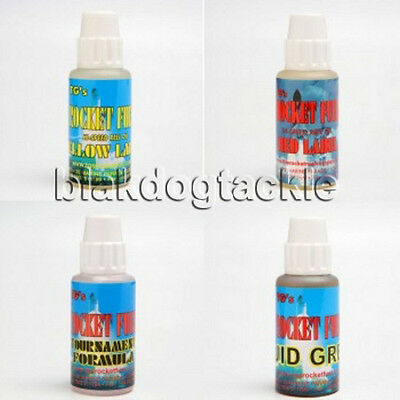 TG's Rocket Fuel Hi-Speed Reel Oils, Red Label, Yellow Label,Tournament, Grease