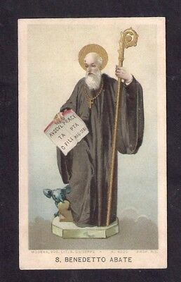 Santino Holy card S.BENEDETTO ABATE