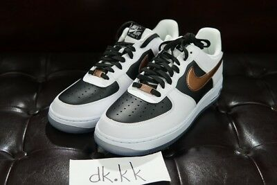 Nike Air Force 1 White Black Bronze Gold Off Sz 10 5 Low 80 00