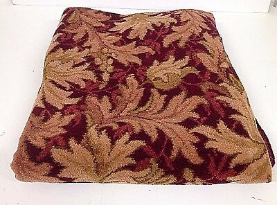 Large Edwardian 1902 Chenille Bedspread/Throw/Table/Burgundy&Gold  Reg Design