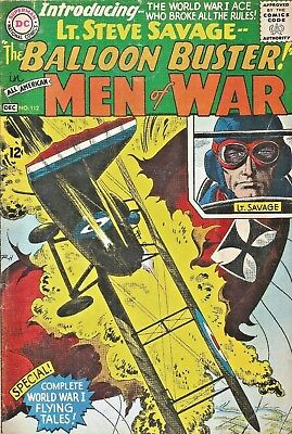 All American Men Of War #112 First Appearance Balloon Buster  Dc Silver-Age 1965