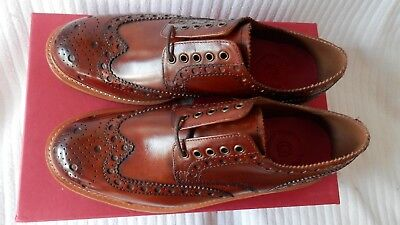 Grenson Archie Heavy Country Hand Painted Derby Brogue UK 9G Wide Fit RRP. £210