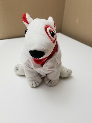 BULLSEYE TARGET DEPT STORE ADVERTISING ICON DOG PLUSH DOLL In PHARMACY LAB COAT
