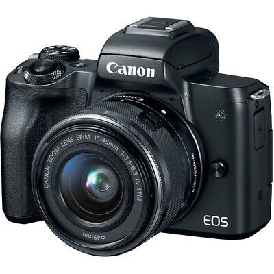 Canon EOS M50 Mirrorless Digital Camera with 15-45mm Lens (Black) USA Model New