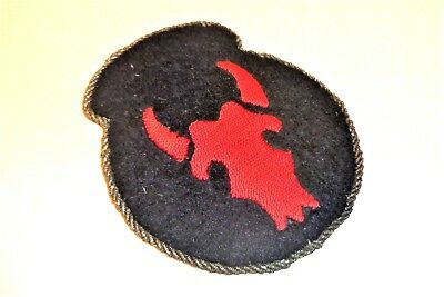 Bullion 34th Infantry Division German Theater Made Hand Embroidered Patch