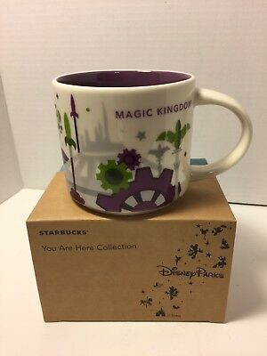 Disney Parks Exclusive Starbucks You Are Here Magic Kingdom Mug 3rd Edition NEW