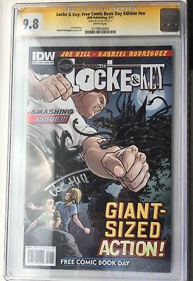 Joe Hill Locke & Key Free Comic Book Day Edition CGC 9.8 Signature Series.