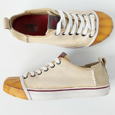 958488f7d3e64 SOREL WOMENS US 7 SENTRY Canvas Suede Rubber Toe Lace Up Sneakers Shoes