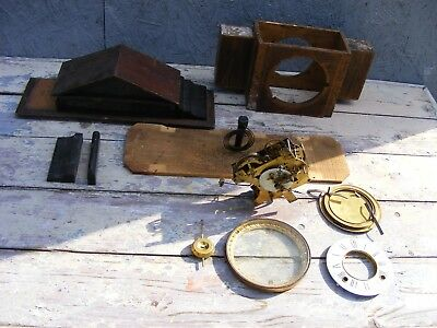 ANSONIA CLOCK & Co PATENTED mantle clock movement and broken case-restore/parts