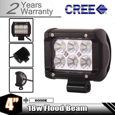 18W CREE LED Work Light Bar Flood Beam Off-road Driving Lamp Jeep Carine Truck