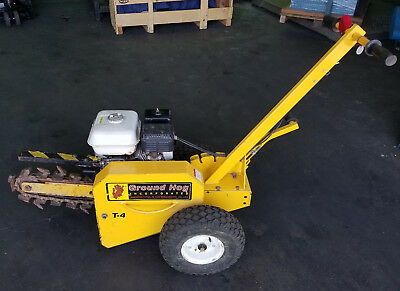 Ground Hog T4 Trencher w/ Honda GX160 5.5HP Engine