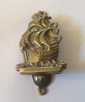 "Vintage Brass Royal Navy ""Elizabethan Galleon "" Door Knocker"
