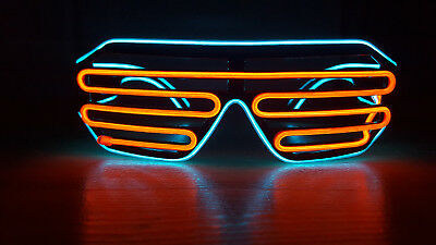 EL Wire Glasses LED Brille Leuchtbrille Shutter Leuchten Fun Party Festival