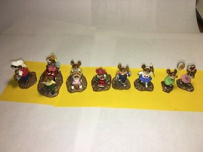 Wee Forest Folk MP1-8 Complete Mouse Parade Set - 8 piece set With WFF Boxes