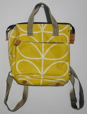 Orla Kiely Classic Giant Linear Stem Backpack Baby Bag in Yellow Tulip 93f6d5de2a52f