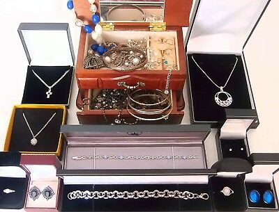Job lot of vintage and modern jewellery including 925 sterling silver