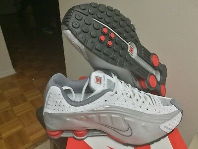 e917aaa817a VTG 2001 NIKE Shox R4 Men's 8 Pewter/Silver Athletic Running Trainer ...