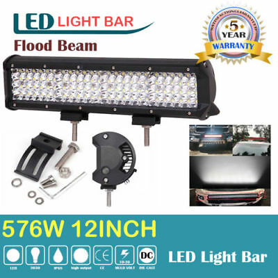12Inch 120W OSRAM LED Work Light Bar Flood Spot Combo Beam 4WD 4X4 Off Road SUV
