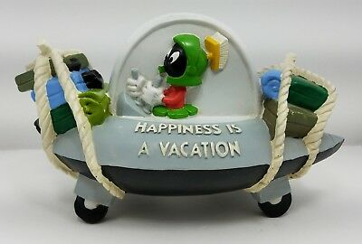 """Marvin the Martian & K9 """"Happiness Is A Vacation"""" Ceramic Coin Bank"""