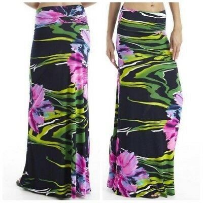 Favorite Girl Style Wholesale High Waist Floral Maxi Skirt 3 Pieces