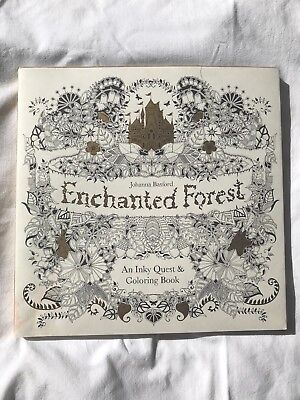 NEW Enchanted Forest An Inky Quest and Coloring Book by Johanna Basford
