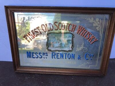 Mess Rs Renton &coy Vintage Finest Old Scotch Whiskey Mirror