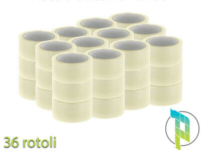 Palucart 36 Rolls Adhesive Tape TRANSPARENT mm 50x66 mt FOR QUIET PACKING