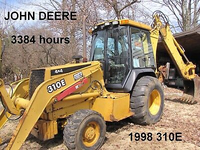 3394 hrs, 1998 John Deere 310E Backhoe Loader,4x4,ext-a-hoe,heated cab with A/C