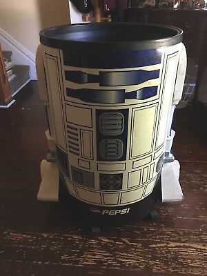 1996 Pepsi R2D2 Rolling ICEMAN Cooler Star Wars Collectible
