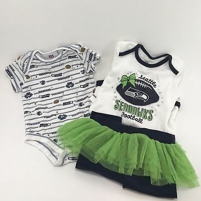 SEATTLE SEAHAWKS BABY Bodysuits and Leggings Authentic NFL Team Apparel Infant