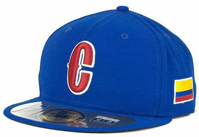 Colombia Men s New Era 59FIFTY World Baseball Classic Fitted Hat Cap (6 7 8 579f15e40dae