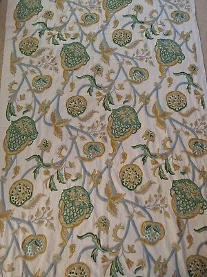 Vintage Handwoven Kashmir Crewel Fabric From India 25+ Yards, Beautiful Fabric!