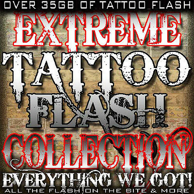 "Tattoo Flash ""Extreme Flash Collection"" On 10 Dvd's Over 35Gb Of Flash!"