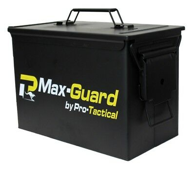 NEW Max-Guard Fat Fifty 50cal Ammo Can Steel Box Military Lockable Waterproof