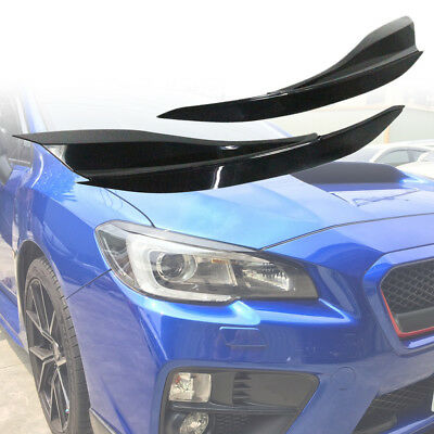 Eyelids Eyebrow Headlight Cover Trim For Subaru WRX4 STI Sedan ABS Unpaint 15-18